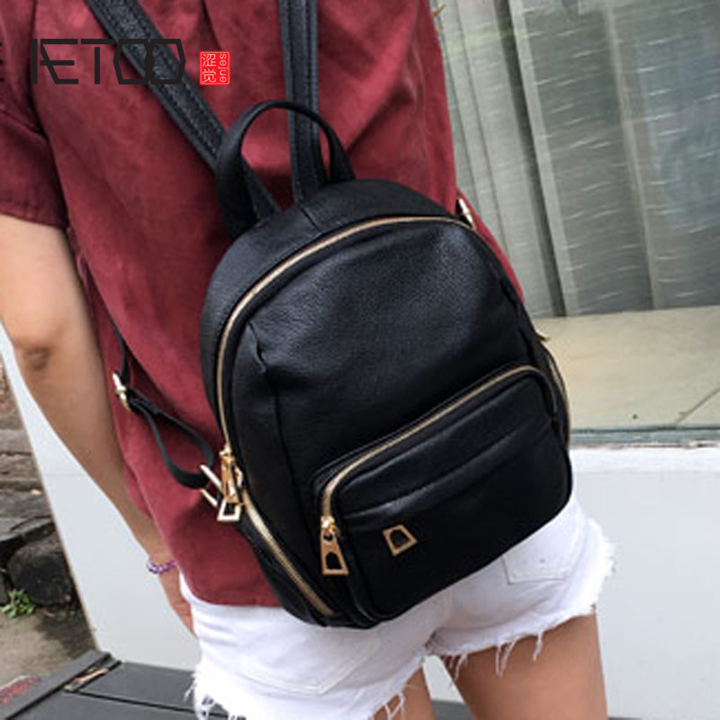 AETOO New Korean version of the custom personality modeling hit the color of the small backpack multi-bag casual leather shoulde multiscale modeling of developmental systems 81