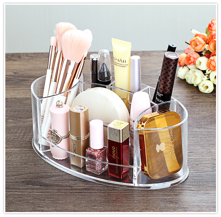 Tabletop Transparent Makeup Organizer Made of Acrylic for Storage of Lipstick Makeup Brush Nail Polish and Cosmetics of Women 10