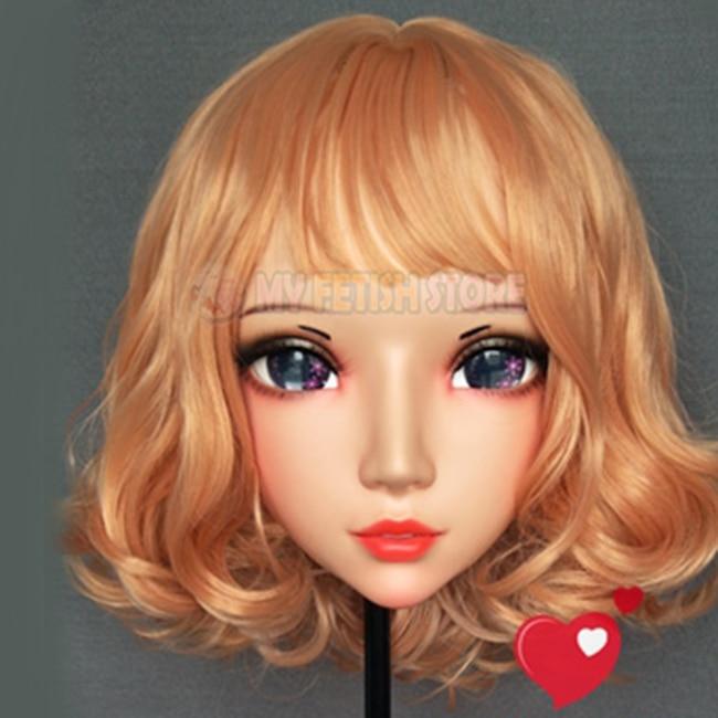 Novelty & Special Use Sweet Girl Resin Half Head Bjd Kigurumi Mask With Eyes Cosplay Anime Role Lolita Mask Crossdress Doll gl051