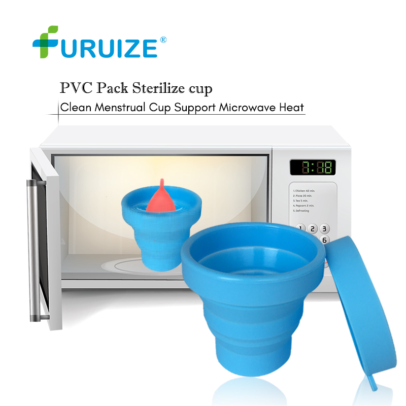 Sterilizer Cup For Menstrual Cup Recyclable Foldable Menstrual Sterilize Camping Cup Good Quality Sterilizing Cup Microwave Heat foldable cup rack