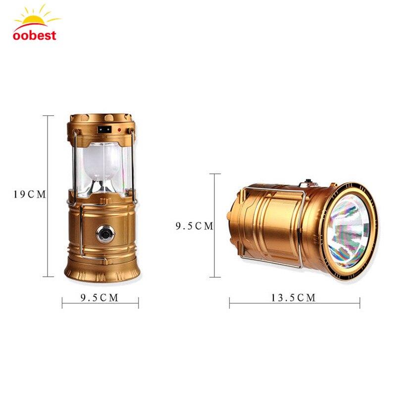 OOBest чрезвычайных светодиодный Фонари лампа Портативный Перезаряжаемые Солнечный свет Открытый Отдых