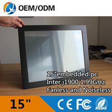 Tablet pc 15″embedded industrial panel pc LED touch screen resolution 1024×768 with Intel j1900 all in one pc 2GB DDR3 32G SSD