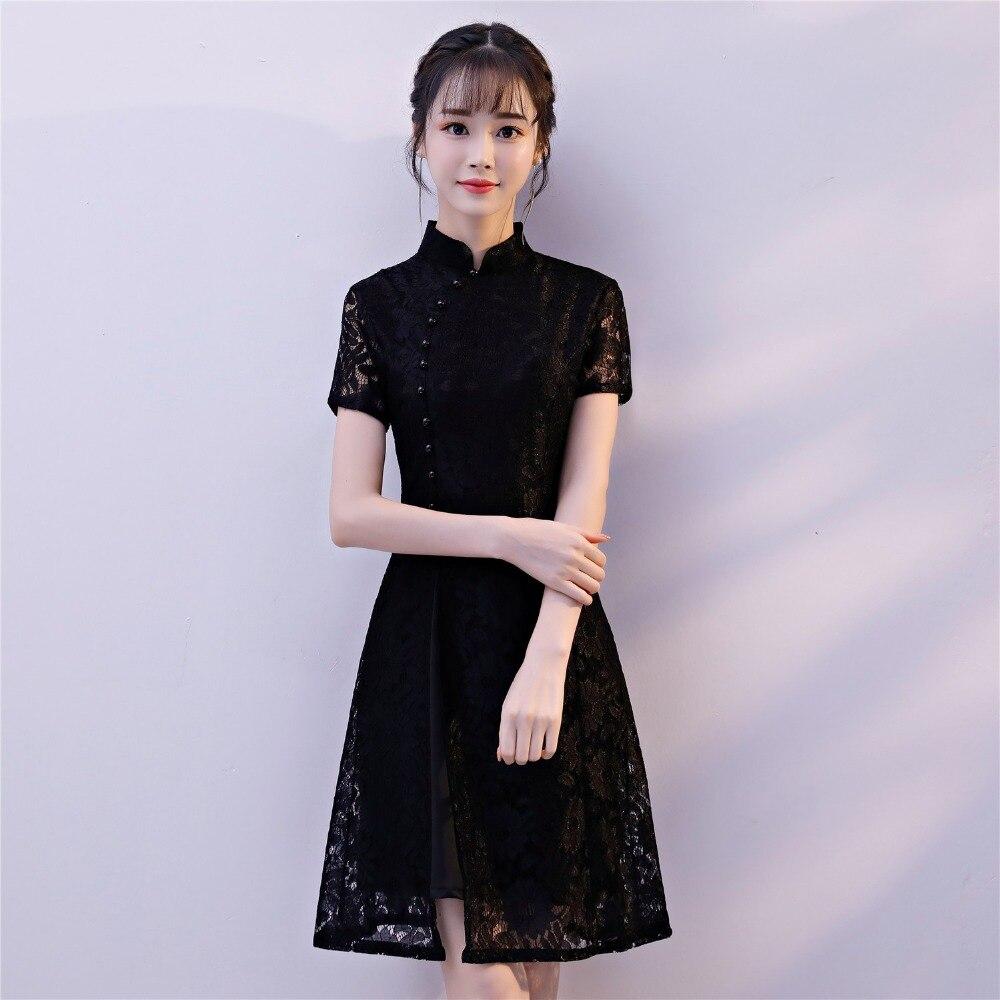 Shanghai Court Femme Pour À En Manches Histoire 69 Robe Femmes 66 Courtes 65 68 Dentelle Oriental 67 Qipao Cheongsam Chinois r6wzrxSf