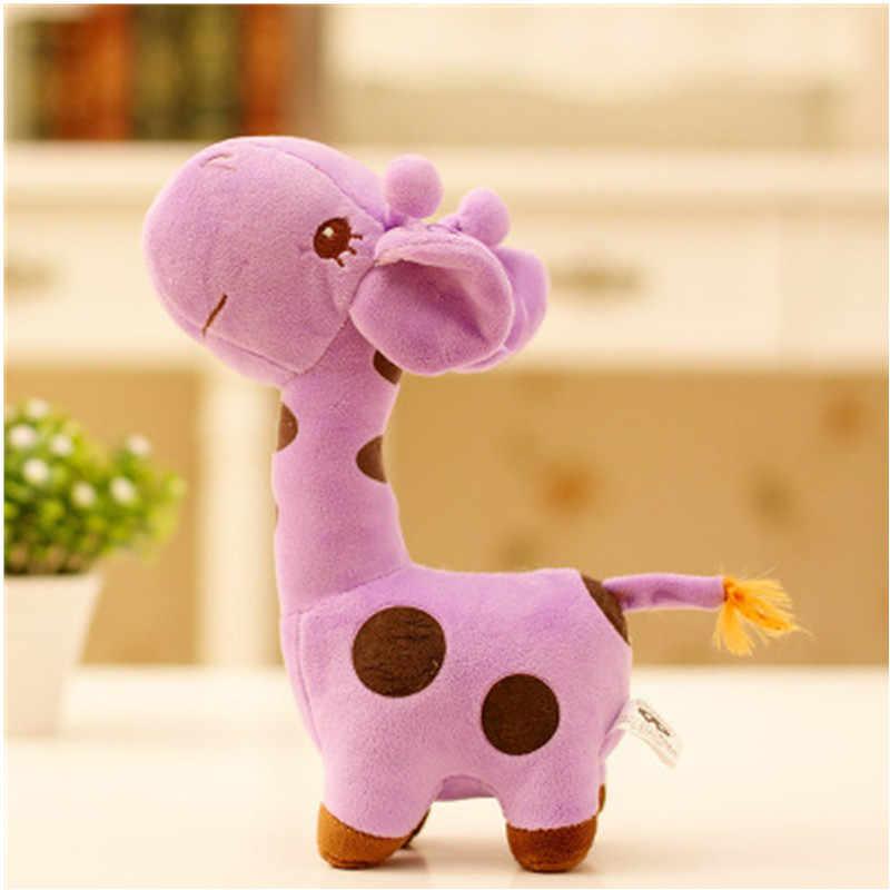 18 cm Unisex Presente Bonito Do Girafa de Pelúcia Brinquedo Macio Animal Querido Boneca Baby Kid Criança do Aniversário do Natal Feliz Colorido Gifts5 cores