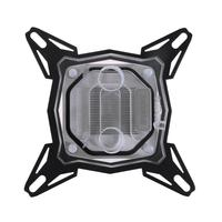 Transparent PC Water Cooling Block G1 4 Thread Pure Red Copper Base Inner Channel Waterblock For