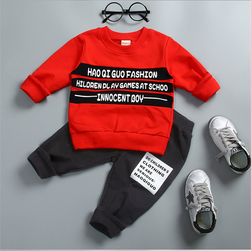 Kid Baby Boys Clothes Spring fall Sports Suit Clothing For Girls Child 2PCS Long Sleeve Outfit Coat + Pants Children Clothes Set keaiyouhuo newborn baby spring autumn girls clothes set rabbit cotton coat pants 2pcs set kid 0 2y girls pure clothes clothing