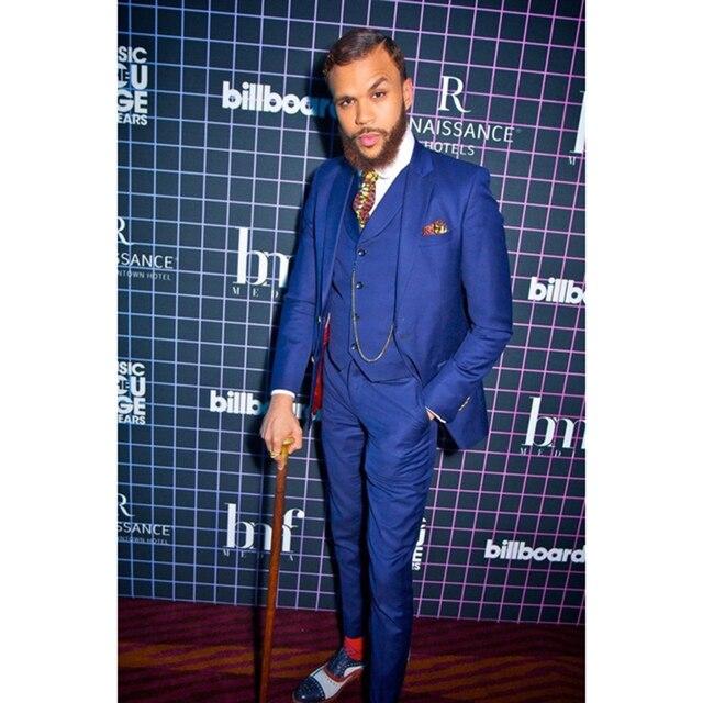 Royal Bleu Marié Smokings costume homme Italien Style Hommes De Mariage  Parti Costumes pour hommes Slim 98694047414