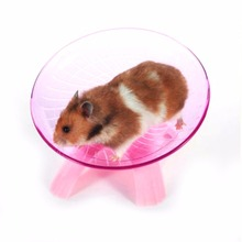 Plastic Pet Hamster Flying Saucer Exercise Wheel Mouse Small Animal Jogging Running Disc Toy 18*18*11