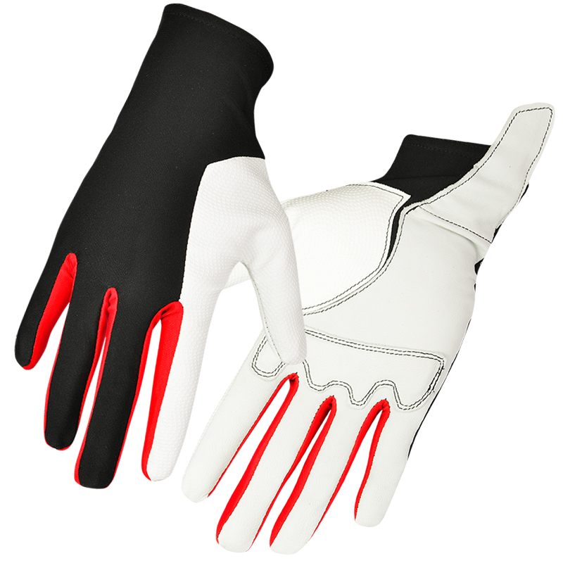 2016 Boodun Men and Ladies Horse Riding Gloves White Color Lycra Sheep Skin for Palm Equestrian Sports Gloves S M L New Arrival