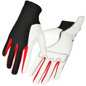 Image 2 - Boodun男性女性乗馬手袋馬術トレーニングゴルフ通気性革手袋乗馬スポーツ手袋
