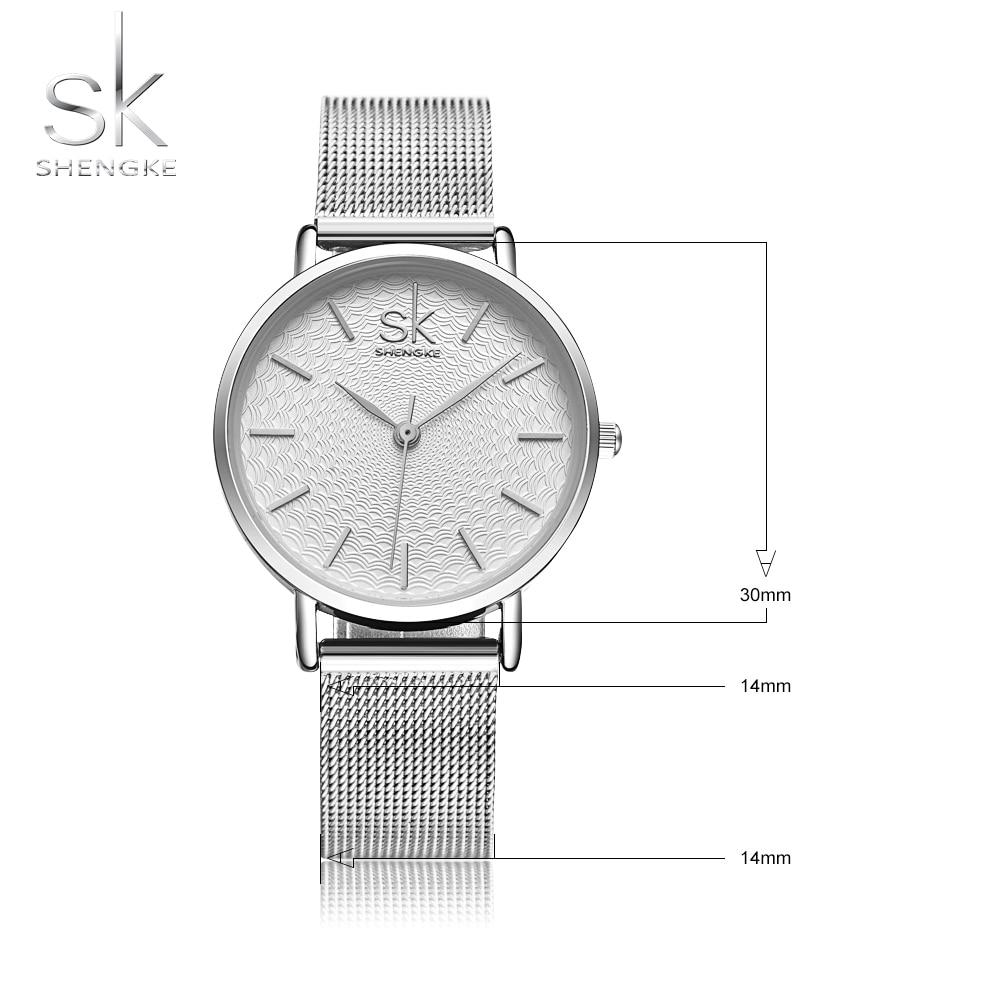 SK Super Slim Silver Mesh Stainless Steel Watches Women Top Brand Luxury Casual Clock Ladies Wrist Watch Lady Relogio Feminino 4