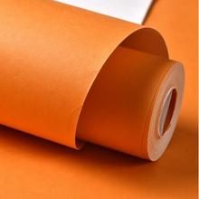 Solid Color Plain Orange Fruit Green Dark Thickening Non Woven Wallpaper Tv Background Wall