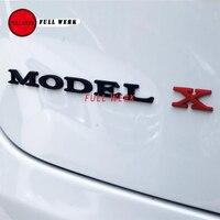 גוף אחורי מכונית מודל מכתבים מדבקת תג סמל 3D מאט X דגם S עבור דגם טסלה X דגם S אביזרים חיצוניים אוטומטי 6 יח'\סט