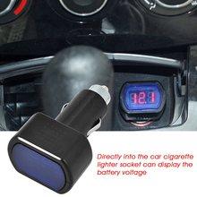 Bateria de carro medidor de painel de tensão monitor testador dc12v 24 v carro mini lcd digital led voltímetro indicador do monitor elétrico