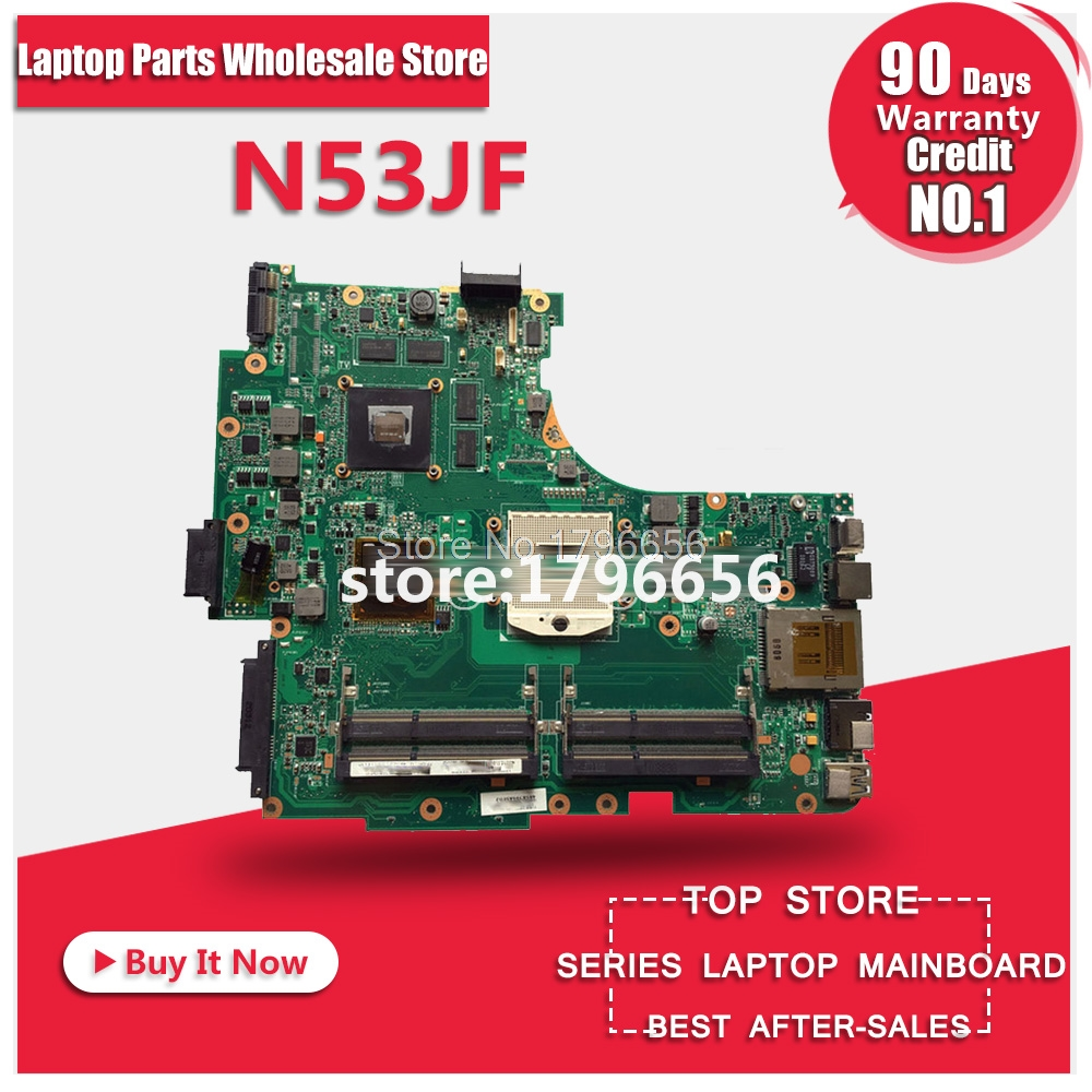 N53JQ for ASUS Laptop Motherboard N53JF N53JG HM55 With GT425M 1G I7 cpu 4 RAM Slots Mainboard fully tested & work