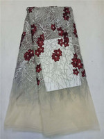 High Quality African Tulle Lace Fabric Hot Sale Wine Red White French Lace Fabric For Ladies