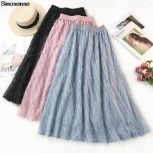 cda14899ca New Summer Tulle Skirt Tutu Skirt Women 2019 Tassel Feather A Line Long  Chiffon Maxi Skirt · 4 Colors Available
