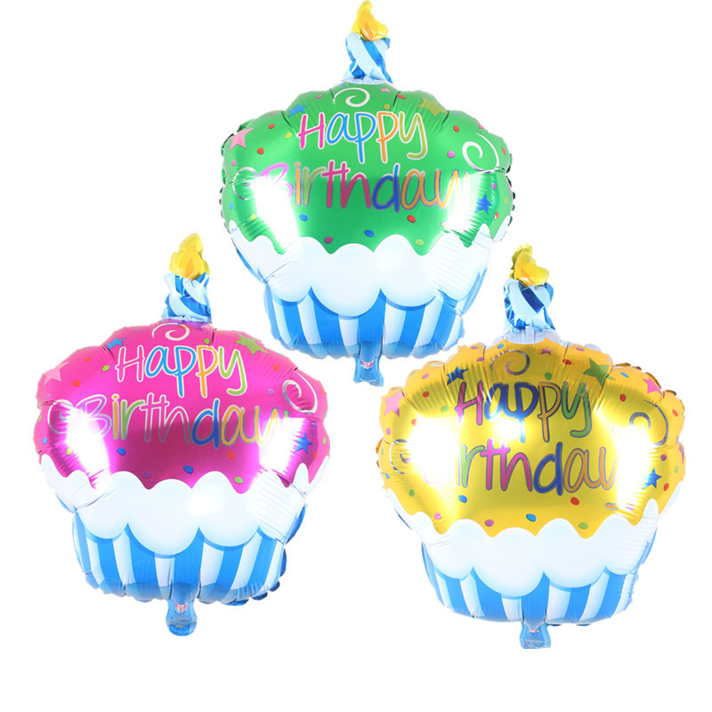 Birthday Cake Candle air balls helium Foil Balloons Happy Birthday Party Decorat