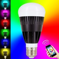 10W WIFI Smart LED Light Bulb Smart Phone Controlled Dimmable Multicolored Color Changing Lights Works With