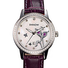 CASIMA SNNOW series Fashion watches women Luxury Elegant quartz watches Waterproof luminous leather calendar leisure 6601