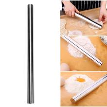Stainless Steel Non-stick Glide Fondant Rolling Pin Fondant Gift Dough Roller Decorating Gift Roller Cake Roller Kitchen Gadgets