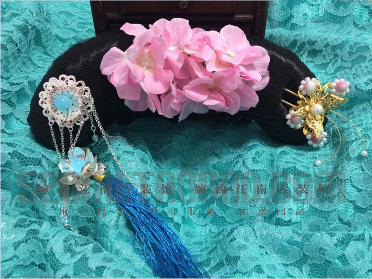 Tianxin GeGe Qing Dynasty Princess Hanfu Accessory Hair Wig + Hair Jewelry Full Set диван friendly faces of the qing dynasty rh