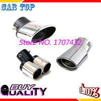 Muffler Tip Stainless Steel Exhaust Tail Pipe Car Chrome Polished End Pipe Throat Liner Decoration For