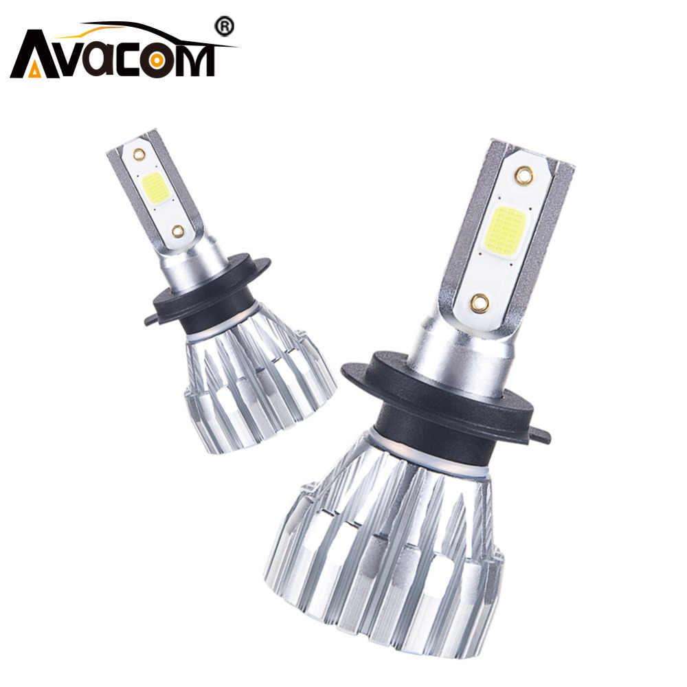 Avacom H1 H3 LED H7 LED Car Headlight Bulb 9005/HB3 9006/HB4 Hir2 COB 50W  6500K/4300K 5000Lm 12V 24 LED H4 H11 Auto Lampada