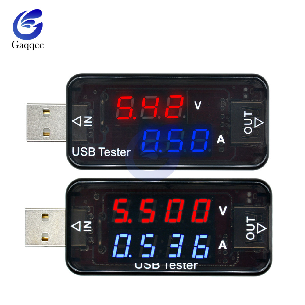 4 3-bit USB Current Voltage Charging Detector Mobile Power Current Voltage Voltmeter Ammeter USB Charger Tester High Precision