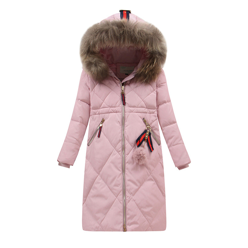 Girls Winter Coat The Child Long Girls In 2017 New Children Down Jackets In Fur Collar Down Jacket Children's girls down jacket long in the new fashion winter 2017 female children upset han edition tide leisure coat
