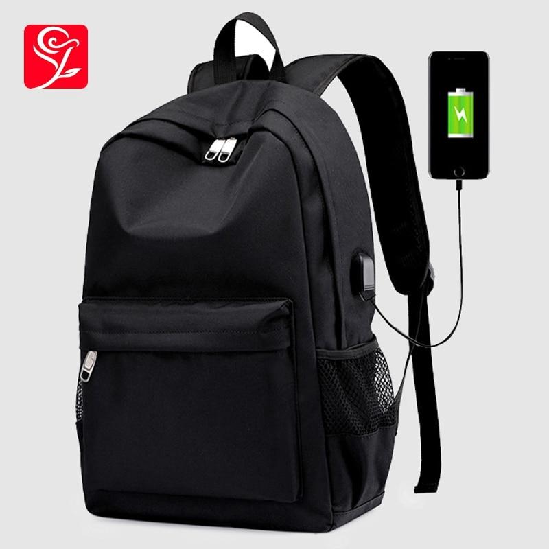 Hommes sacs à dos multi-fonctions USB chargeur sacs à dos d'ordinateur portable pour hommes voyage sacs à dos Anti-voleur sacs à dos sacs d'école