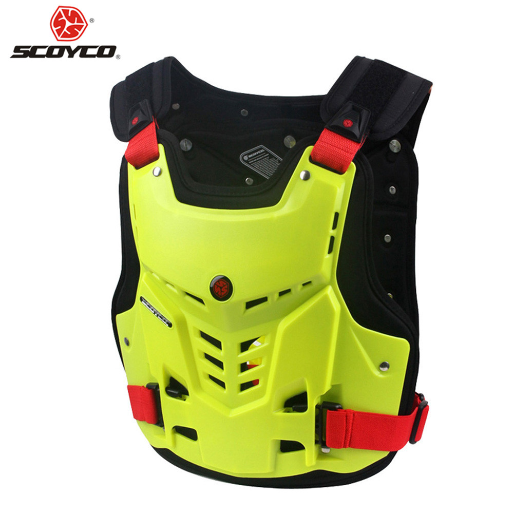 Motorcycle Armor Motocross Chest Back Protector Armour Vest Racing Protective AM0527 Moto Body Guard Vest MX Jacket ATV Guard