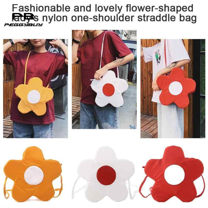 Flor bonito Em Forma de Ombro Messenger Bolsas Mulheres Crossbody Sacos De Nylon