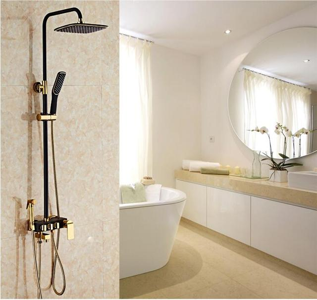 Free Shipping Europe style Rainfall Shower Faucet Set Wall Mounted ...