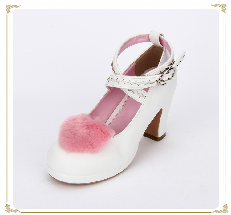 Princess sweet lolita shoes new summer thick bottom love round-toe plush dress  high heel shoes pu8835 e reader case for onyx boox 601 3g case cover coque shell funda hulle custodie