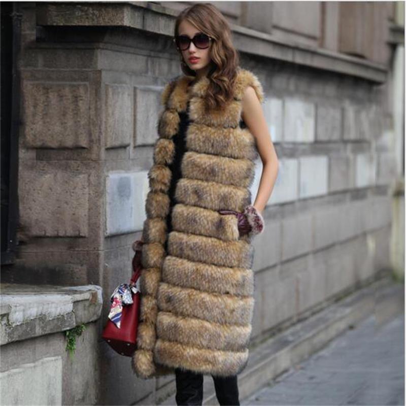 2019 Herbst Winter hochwertige flauschige Imitation Fuchspelz Weste - Damenbekleidung - Foto 2