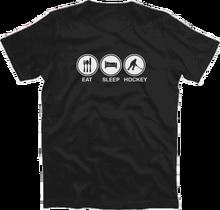 EAT SLEEP HOCKEY eishockey feldhockey puk hallenhockey T-Shirt S-XXXL Harajuku Tops t shirt Fashion Classic Unique