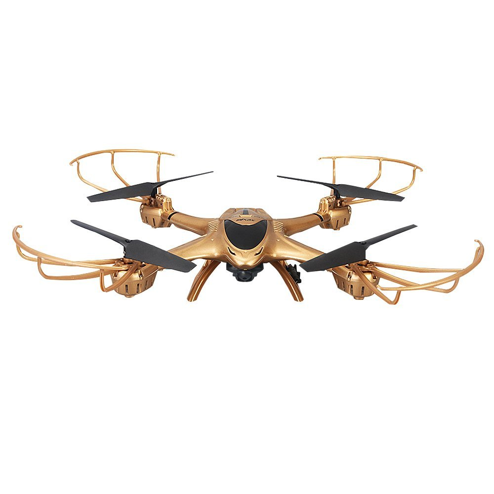New Arrival MJX X401H WIFI FPV 0.3MP HD Camera Drone RC Quadcopter Altitude Hold 3D Flip Helicopter RTF-Gold mjx x102h rc drone altitude hold one key land quadcopter with 4k 1080p fpv camera hd carry gopro sjcam xiaomi yi vs mjx x101