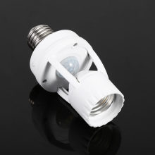 AC110-240V E27 Infrared Motion Sensor LED Lamp Bulb Holder Light Socket With Adjustable Switch(China)