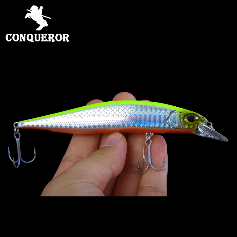 2018 Conqueror hot model fishing lures hard bait different colors 135mm 19g minnow,quality professional minnow fishing lure bait