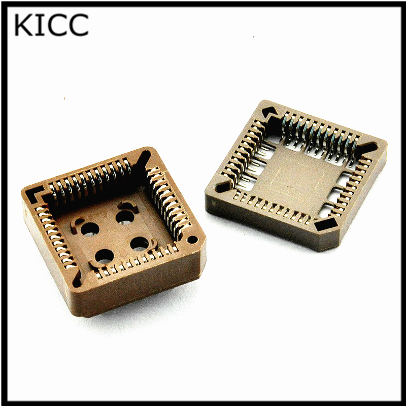 10Pcs PLCC44 SMD IC socket conversion socket free shipping 2016new bmw auto car practice lock cylinder with car key locksmith tools training car lock
