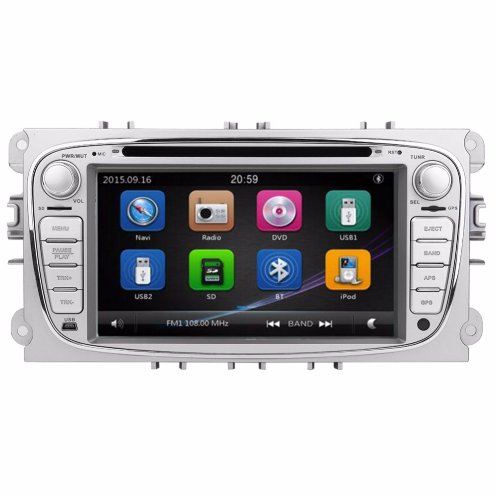 Gps Navigation For Cars : Din inch car gps navigation dvd player for ford focus