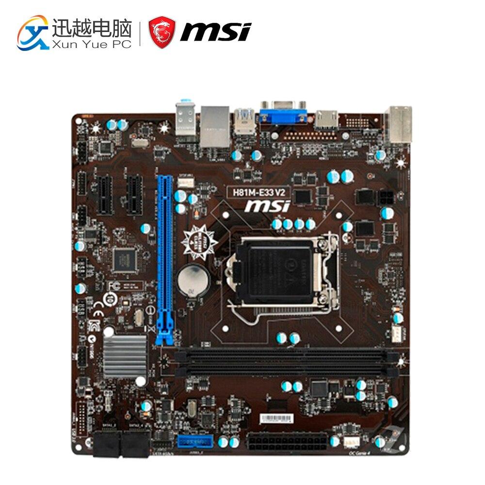 MSI H81M-E33 V2 Windows 8 X64