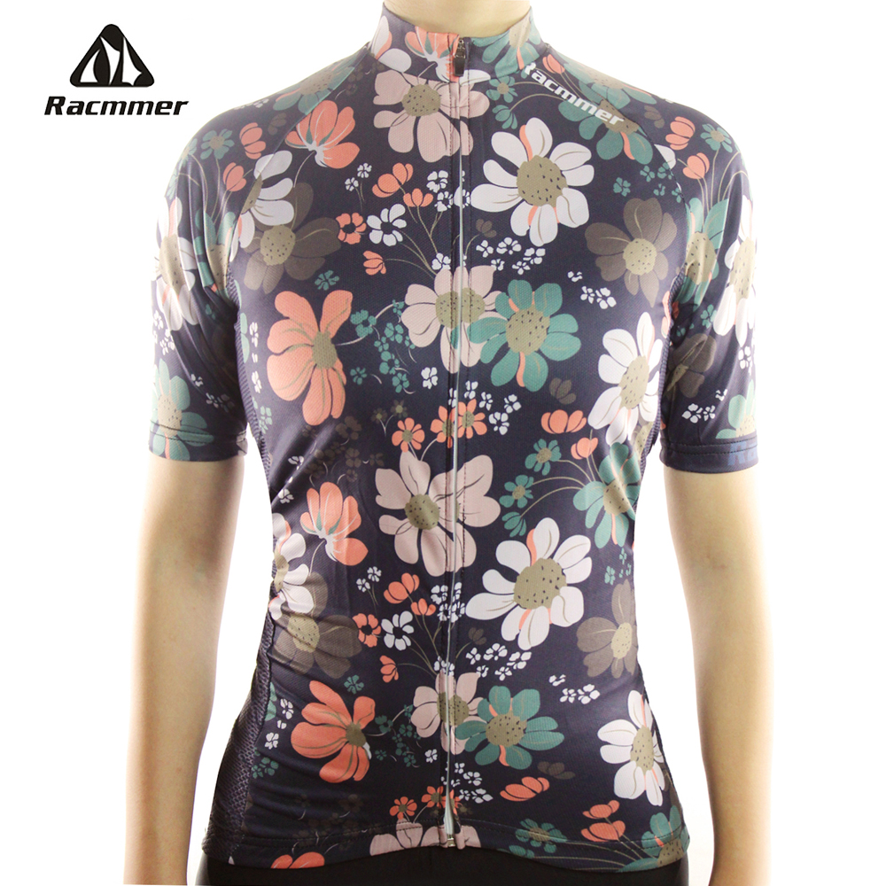 Racmmer 2017 Cycling <font><b>Jersey</b></font> Mtb Bicycle Clothing Bike Wear Clothes Short Maillot Roupa Ropa De Ciclismo Mujer Verano #NS-07