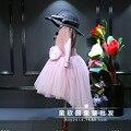 Roupas de bebê vestido de criança e menina 2016 sabor Coreano tricô splicing cauda de andorinha cintura vestido de princesa é frete grátis