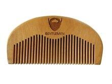 Деревянный Карманный борода гребень оптовая продажа Маленький персик деревянная Расчёска гребень Make Up инструмент для мужской бороды Уход за гравировкой логотип