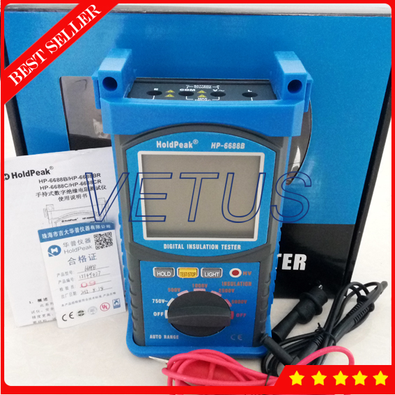 protable Insulation Resistance Tester HP-6688B шина пильная husqvarna 18 3 8 1 5мм sn 5859508 68