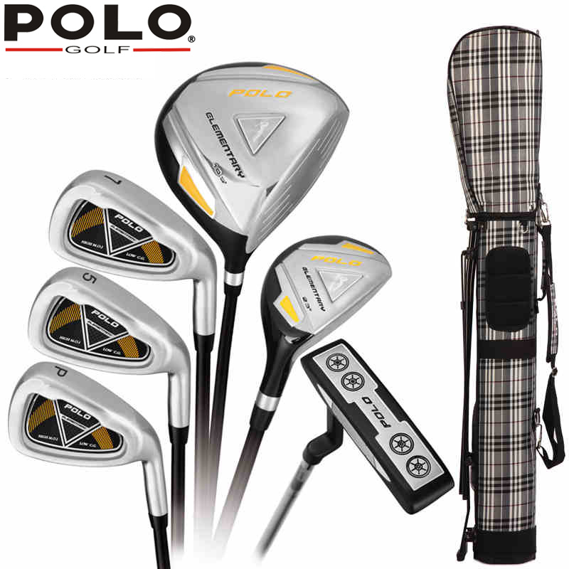 polo mens male men 6 pieces half golf clubs set with bag. Black Bedroom Furniture Sets. Home Design Ideas