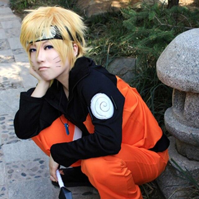 Naruto Cosplay Costume Naruto Uzumaki Anime Full Suits Top Pants
