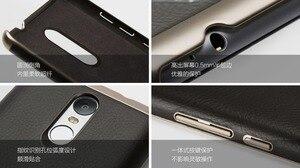 Image 4 - 100% Original Xiaomi Redmi Nota 3 Pro Caso de Couro PU de Metal Xiaomi Redmi Nota 3 Tampa Caixa Do Telefone Para Xiomi redmi Note3 150mm